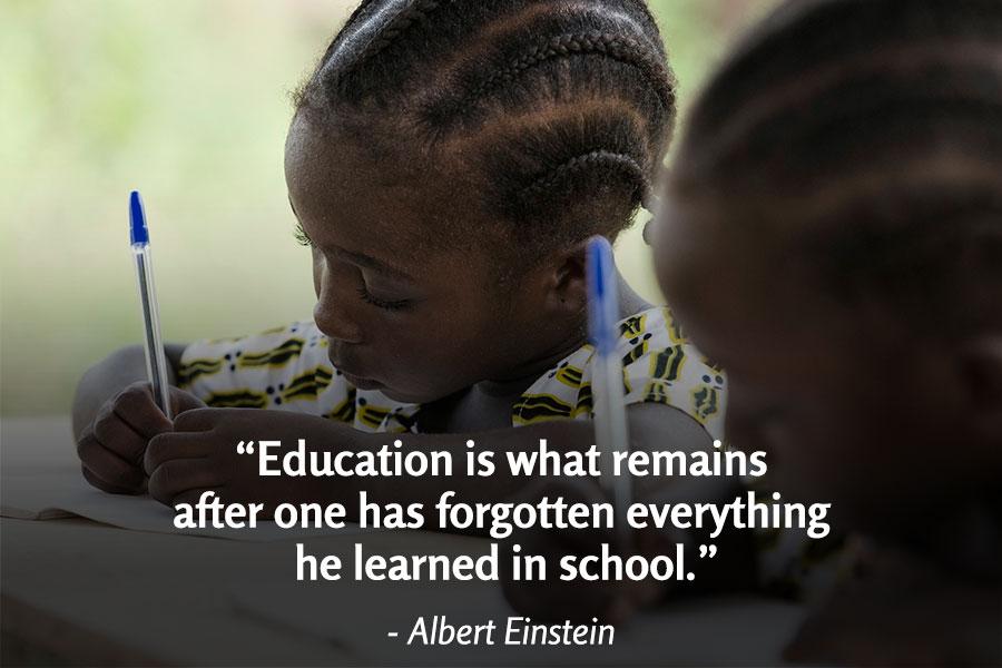 Albert Einstein Education Quote